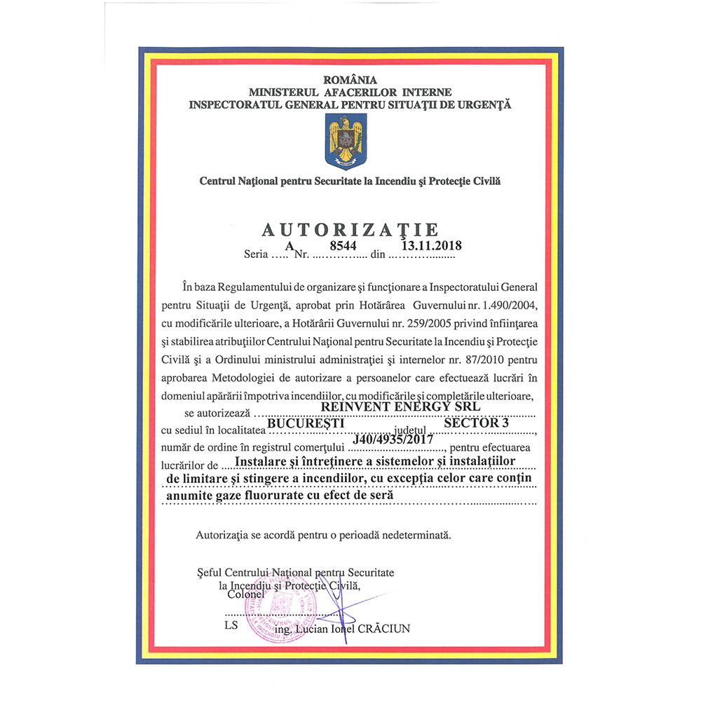 Autorizatie 8544 emisa IGSU
