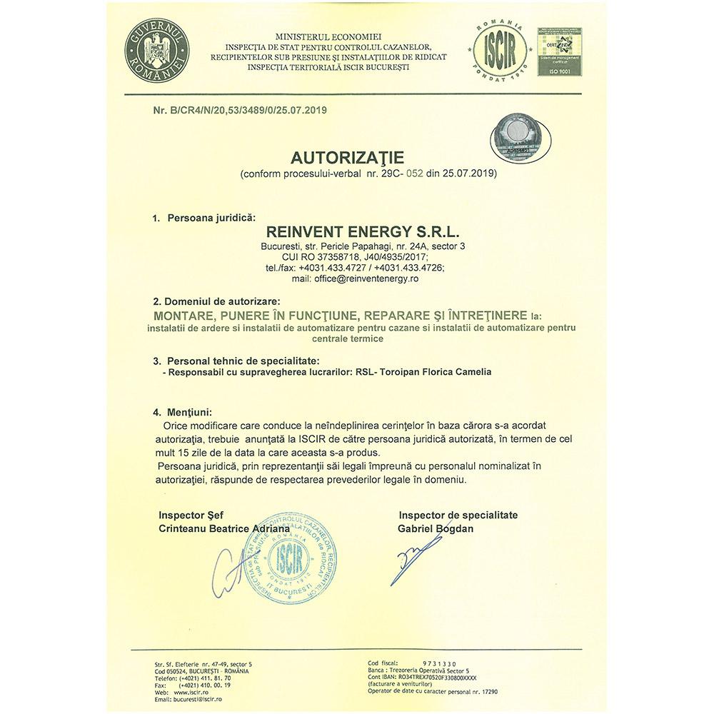 Autorizatie PT C11 emisa ISCIR