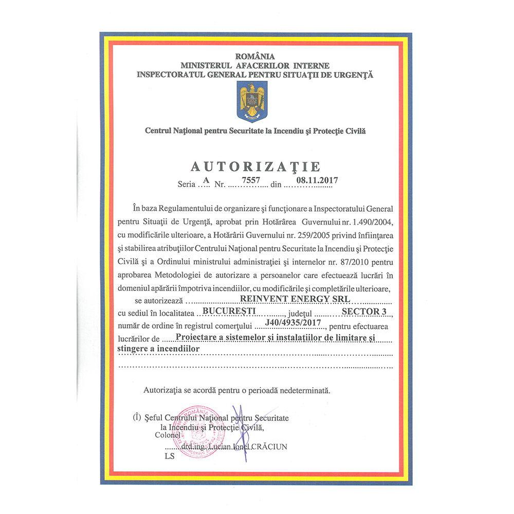 Autorizatie 7557 emisa IGSU