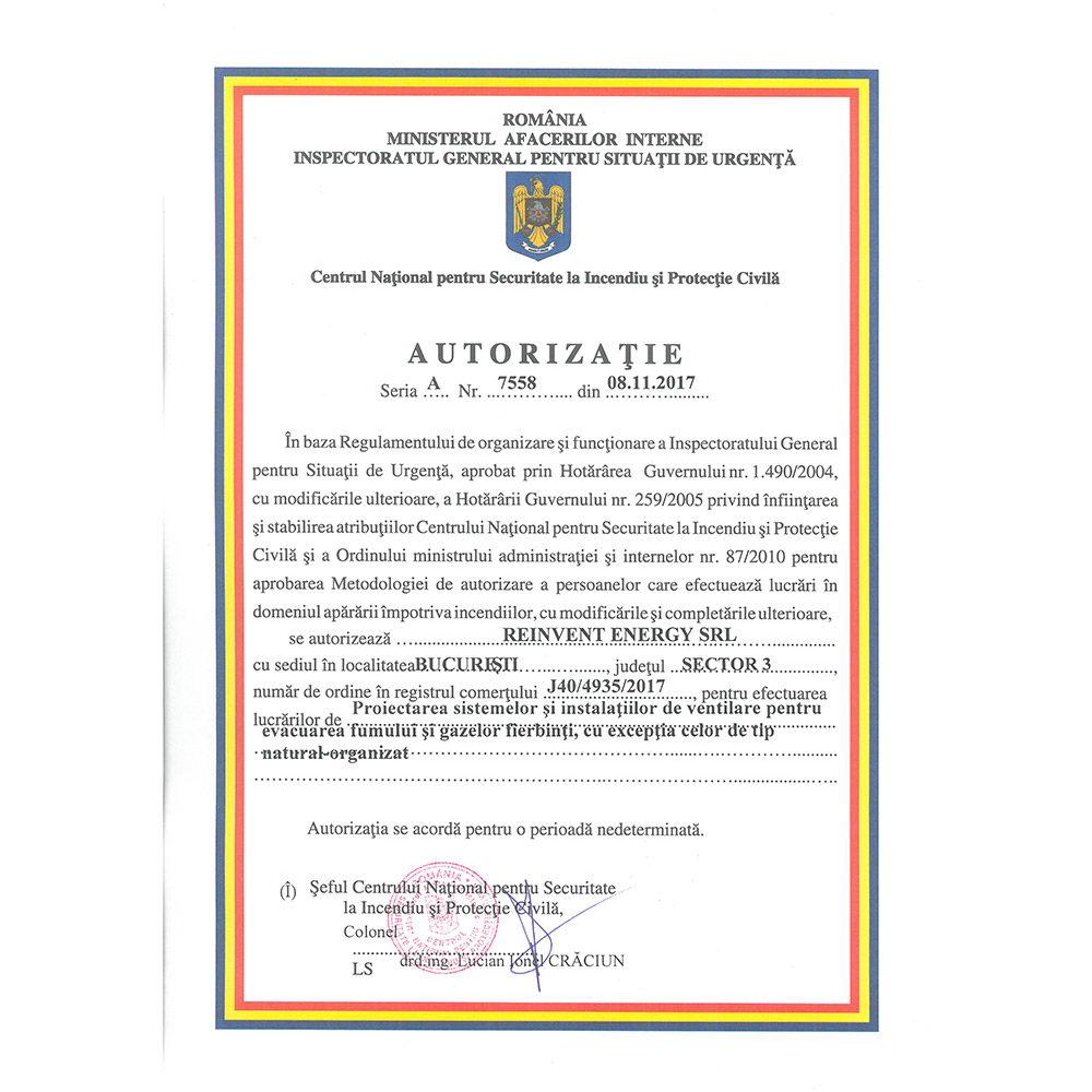 Autorizatie 7558 emisa IGSU