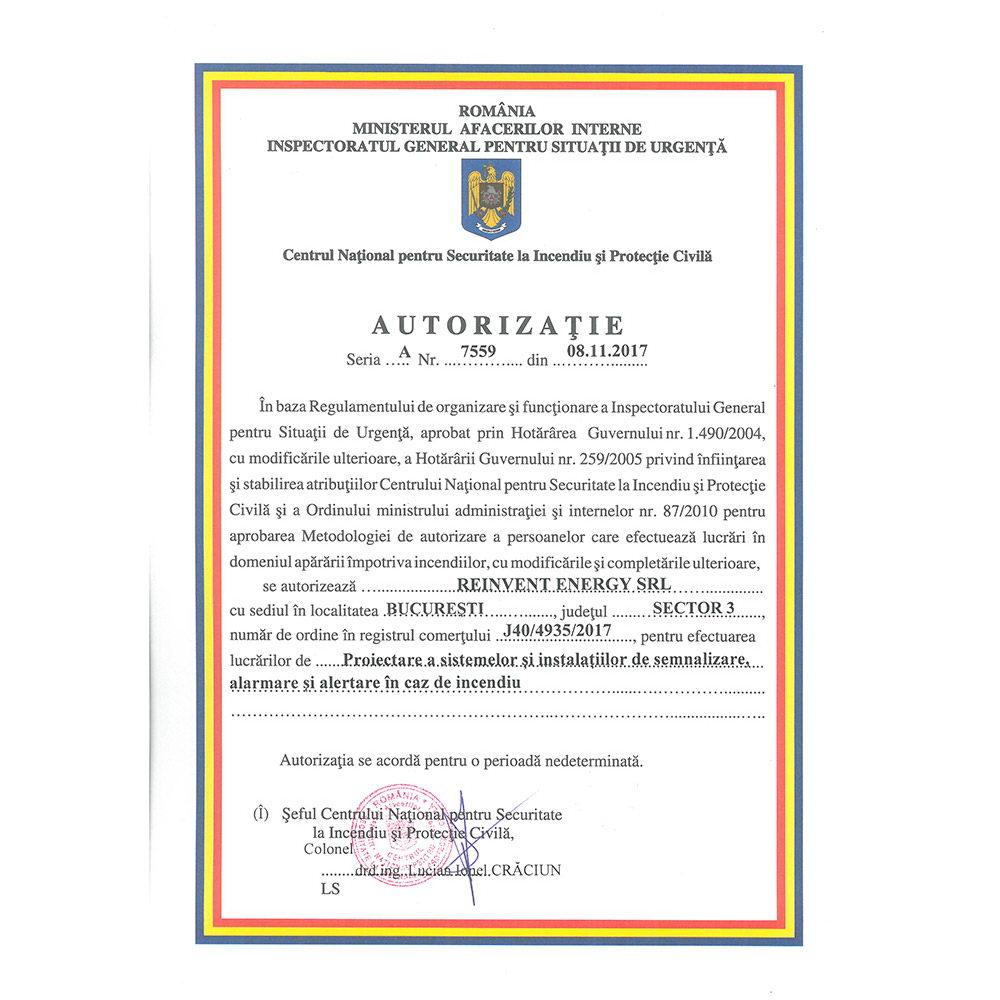 Autorizatie 7559 emisa IGSU
