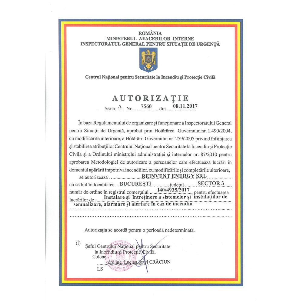 Autorizatie 7560 emisa IGSU