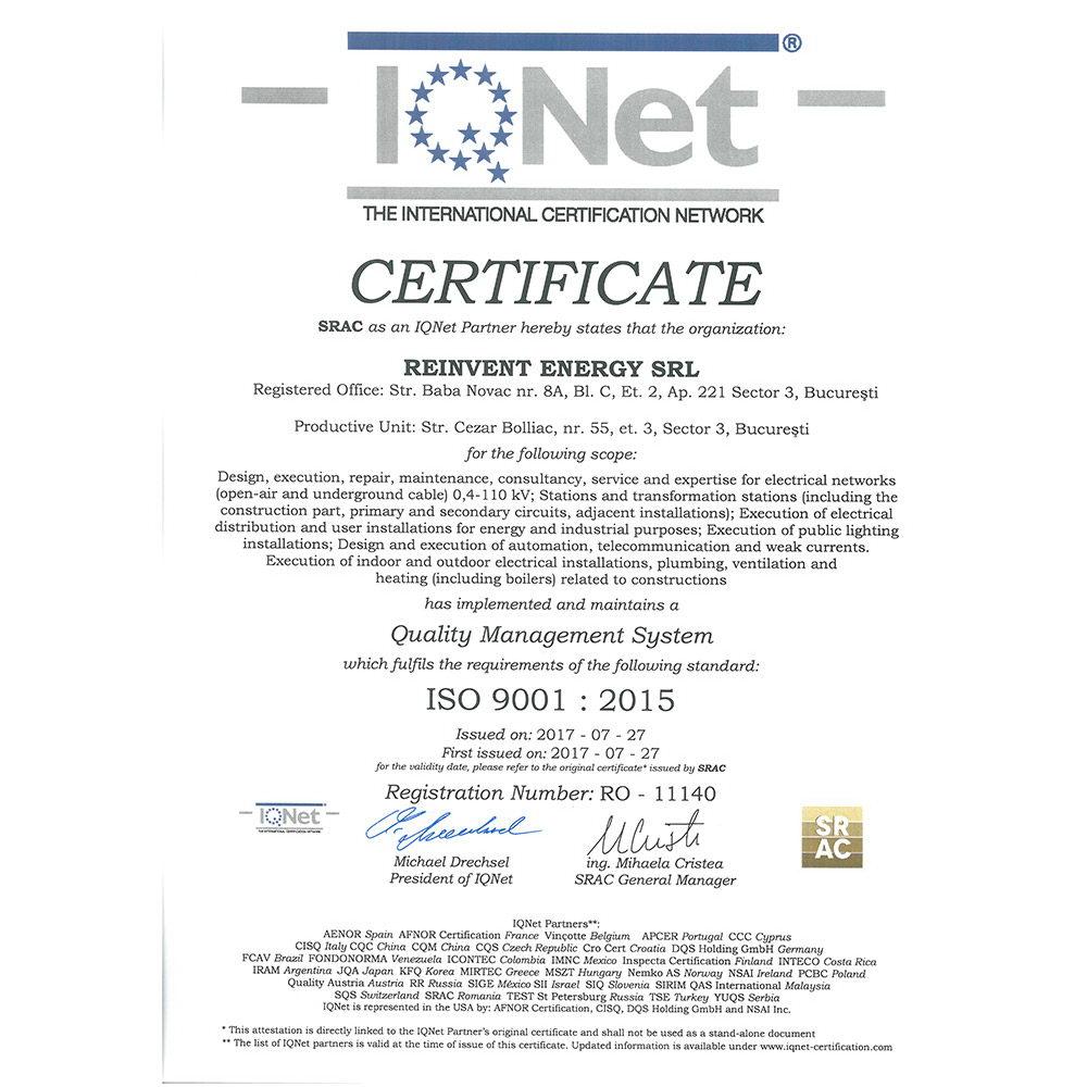 IQ ISO 9001 2015 emis SRAC
