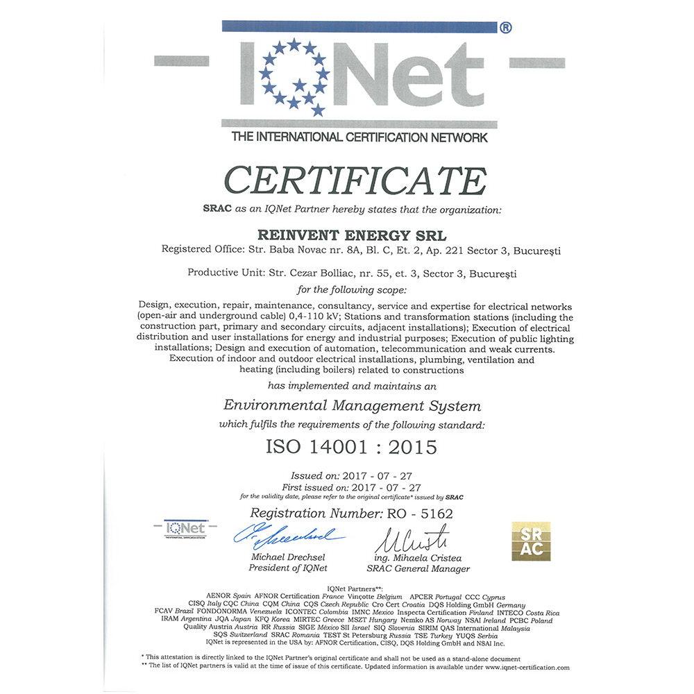 IQ ISO 14001 2015 emis SRAC