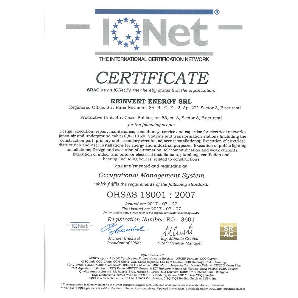 IQ OHSAS 18001 2007 emis SRAC